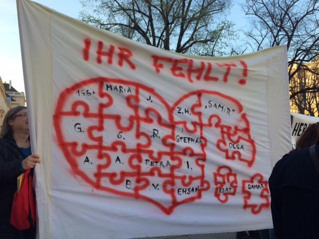 Mahnwache am 29.3.2019  – Platz der Menschenrechte