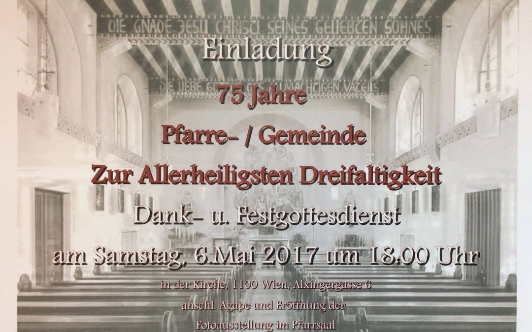 """""""75 Jahre Allerheiligste Dreifaltigkeit"""""""