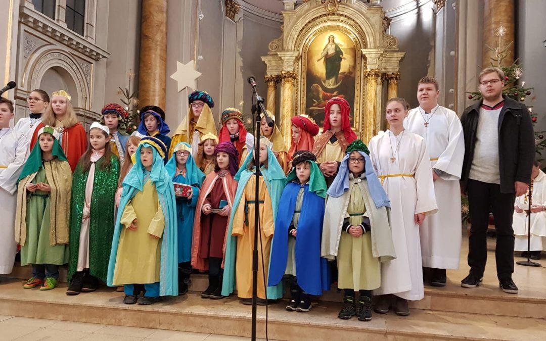 … wir wünschen euch ein fröhliches Jahr: Caspar, Melchior und Balthasar