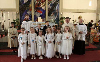 1. Teil der Erstkommunionfeier in der Heiligen Familie